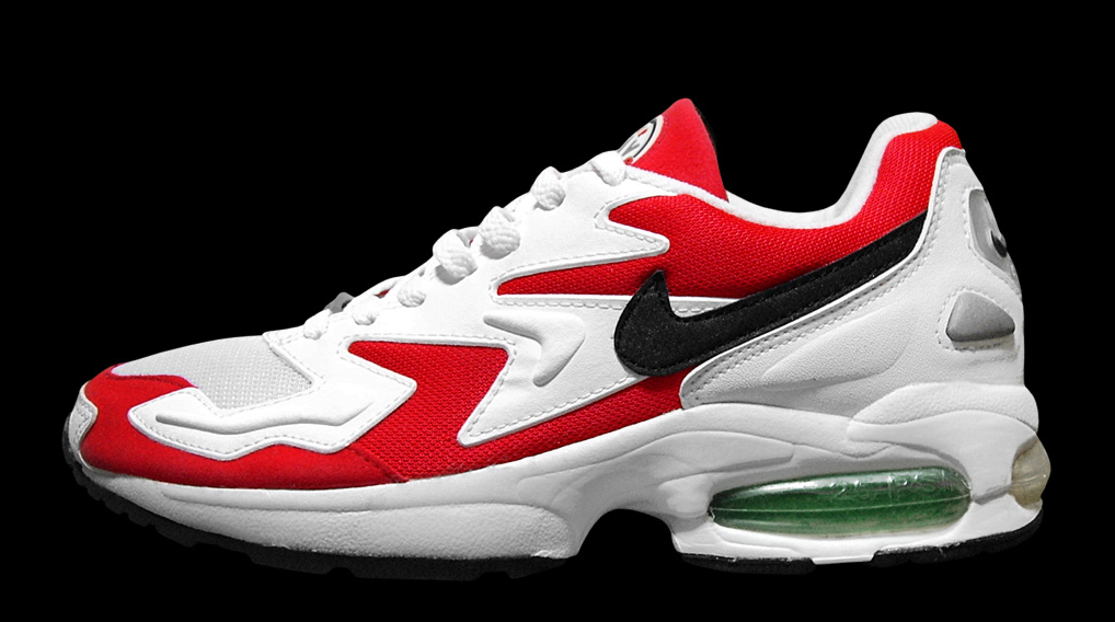 Nike Air Max II Light 1994 Original Atomic Red Black-Clear Jade ... 235a76a28