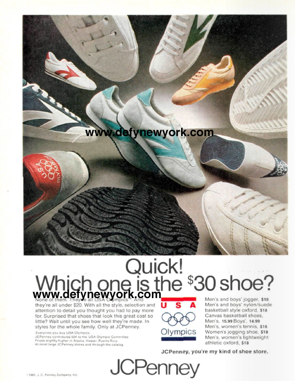 7d66579cf34 JCPenney USA Olympics Brand Sneakers 1981   DeFY. New York-Sneakers ...