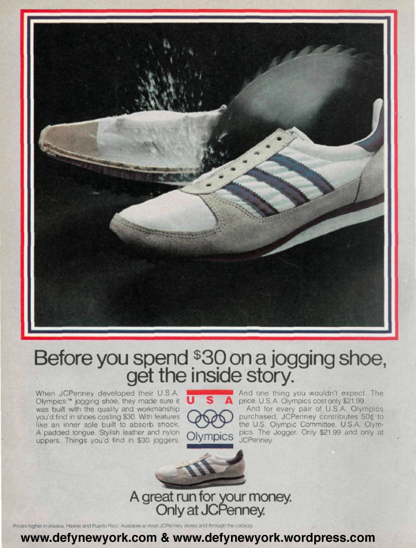 4ff0bc92e3f1 U.S.A. Olympics Jogging Shoe From JCPenney (Adidas Knock Off) 1980 ...