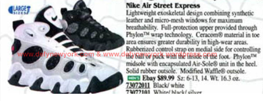 best sneakers 54327 ea933 Nike Air Street Express 1996  DeFY. New York-Sneakers,Music,