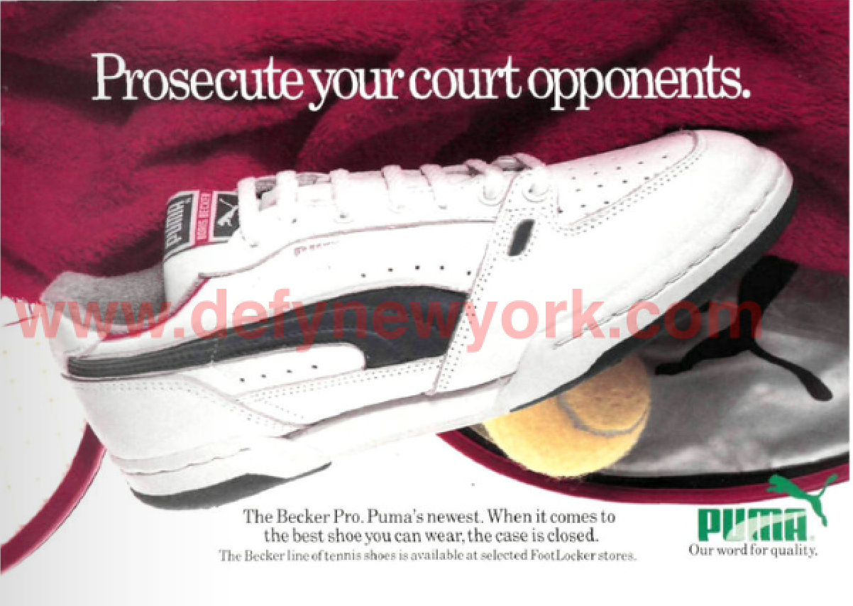 cost charm classcic many choices of Puma Becker Pro Boris Becker Signature Tennis Shoe 1987 ...